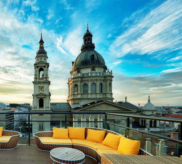 High Note Skybar Budapest - tetőterasz nappal